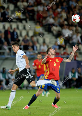Stock Photo of Marc-Oliver Kempf of Germany and Saul Niguez Esclapez of Spain