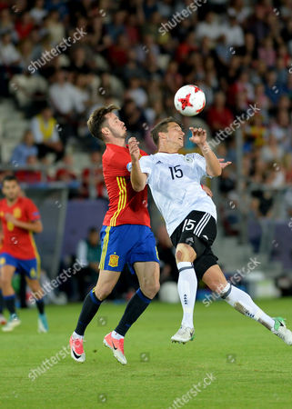 Stock Picture of Marc-Oliver Kempf of Germany and Saul Niguez Esclapez of Spain