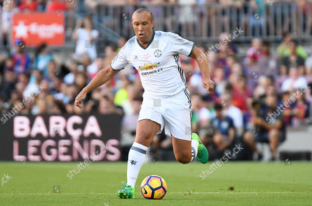 Mikael Silvestre of Manchester United Legends.