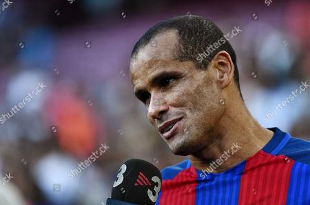 Rivaldo of FC Barcelona Legends.
