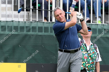 Stock Image of Allan Wells at the Celebrity Cup at the Celtic Manor, Newport, South Wales.