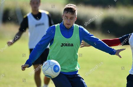 Luke Young of Torquay United, Torquay United return to training at Seale Hayne training ground near Newton Abbot, Devon on July 01.