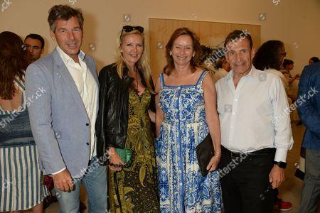 Hugh Morrison, Amanda Wakeley with Anita Zabludowicz and husband Chaim Zabludowicz