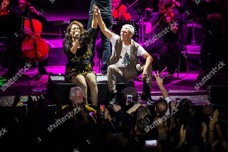 Rowetta Idah and Bez (Mark Berry). Hacienda Classical play at the Castlefield Bowl as part of Sounds of the City