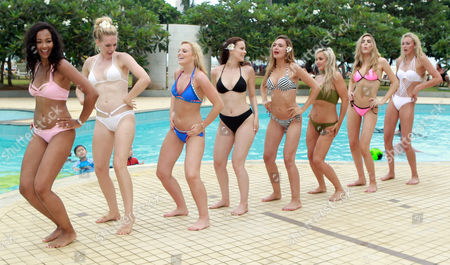 Elizabeth Grant Miss England 2016, Zoe-Lea Dale Miss Manchester Age 22, Olivia Green Miss Genting Stoke Age 20, Cheraleigh Van Zanten Miss Hippodrome Age 20, Rachel Pitman Miss Hertfordshire Age 23, Jennifer Atkin Miss Yorkshire Age 24, Maisie Hobbs Miss Nottinghamshire age 17, Paris Summer Allen Miss Rugby Age 19