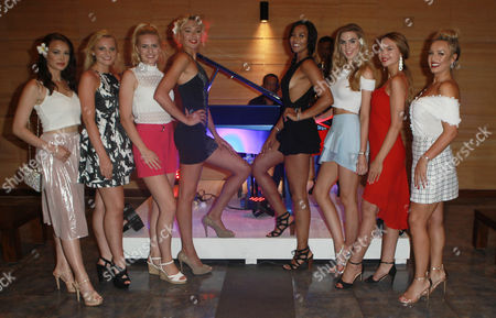 Cheraleigh Van Zanten Miss Hippodrome Age 20, Olivia Green Miss Genting Stoke Age 20, Zoe-Lea Dale Miss Manchester Age 22, Paris Summer Allen Miss Rugby Age 19, Elizabeth Grant Miss England 2016, Maisie Hobbs Miss Nottinghamshire age 17, Rachel Pitman Miss Hertfordshire Age 23, Jennifer Atkin Miss Yorkshire Age 24