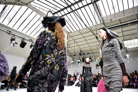 Models present creations from the Fall/Winter 2017/18 Haute Couture collection by Belgian designers Filip Arickx and An Vandevorst for their label A.F. Vandevorst during the Paris Fashion Week, in Paris, France, 02 July 2017. The presentation of the Haute Couture collections runs from 02 to 05 July.