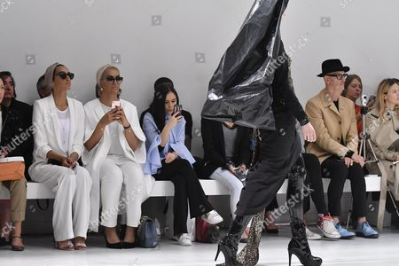 A model presents a creation from the Fall/Winter 2017/18 Haute Couture collection by Belgian designers Filip Arickx and An Vandevorst for their label A.F. Vandevorst during the Paris Fashion Week, in Paris, France, 02 July 2017. The presentation of the Haute Couture collections runs from 02 to 05 July.