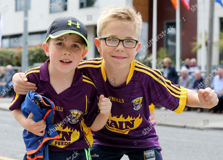 Wexford vs Galway. Wexford fans Sean and John Dwyer