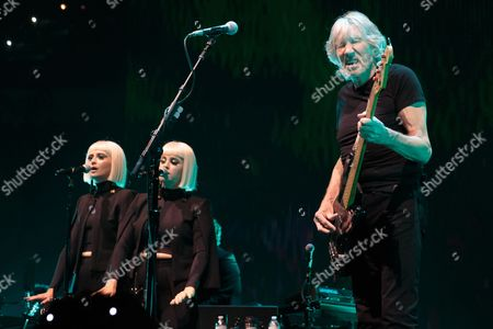 Holly Laessig, Jess Wolfe and Roger Waters