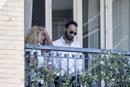 Paolo Villaggio' children, Elisabetta and Pierfrancesco, are seen at the Paideia Clinic in Rome, Italy, 03 July 2017. Italian actor Paolo Villaggio, best known for his role as Ugo Fantozzi, died at the age of 84 in Rome, on 03 July 2017, his family said.