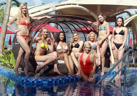Zoe-Lea Dale Miss Manchester Age 22, Paris Summer Allen Miss Rugby Age 19, Elizabeth Grant Miss England 2016, Maisie Hobbs Miss Nottinghamshire age 17, Jennifer Atkin Miss Yorkshire Age 24, Olivia Green Miss Genting Stoke Age 20, Rachel Pitman Miss Hertfordshire Age 23, Cheraleigh Van Zanten Miss Hippodrome Age 20