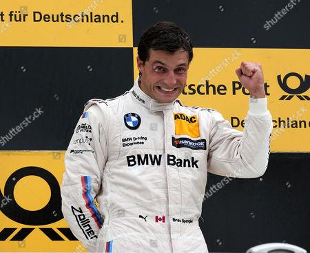 Podium: 2.Platz f+uer Maxime Martin (BEL#36) BMW Team RBM, Samsung BMW M4 DTM,  winner  Bruno Spengler (CDN#7) BMW Team RBM, BMW Bank M4 DTM , 3.Platz fuer Mattias Ekstroem (SWE#5) Audi Sport Team Abt Sportsline, Red Bull Audi RS 5 DTM