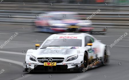Paul Di Resta (GBR#3) Mercedes-AMG Mogoalsport SILBERPFEIL Energy, Mercedes-AMG C 63 DTM , Mattias Ekstroem (SWE#5) Audi Sport Team Abt Sportsline, Red Bull Audi RS 5 DTM