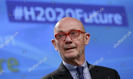 Pascal Lamy, the chair of the High Level Group on maximising the impact of European research and innovation programmes, gives a press briefing to present report on the role of research and innovation for Europe's future in Brussels, Belgium, 03 July 2017. Lamy presented the Group's vision and recommendations for the future, based on the results of the interim evaluation of Horizon 2020, an EU Research and Innovation programme funded with some 80 billion euro over seven years between 2014 to 2020.