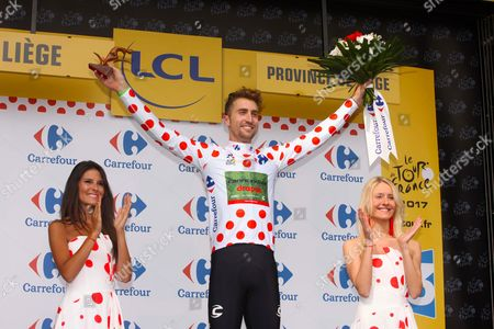Leader in King of the Mountains competition Taylor Phinney USA