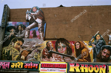 Cinema hoarding, Delhi, India