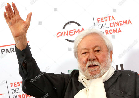 Actor Paolo Villaggio poses for photographers during the photo call of the movie Fantozzi on the occasion of its 40th anniversary from its release in the movie theaters, at Rome's Film Festival, in Rome. Villaggio died at the age of 84 in Rome, Monday, July 3, 2017
