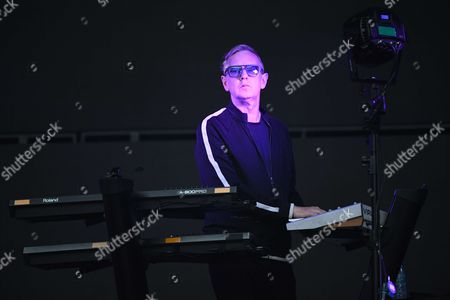 Stock Picture of Andrew Fletcher from the band Depeche Mode