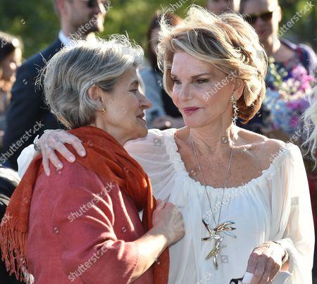 Stock Photo of Hedva Ser and Irina Bokova