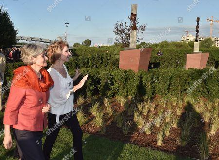 Stock Image of Hedva Ser and Irina Bokova