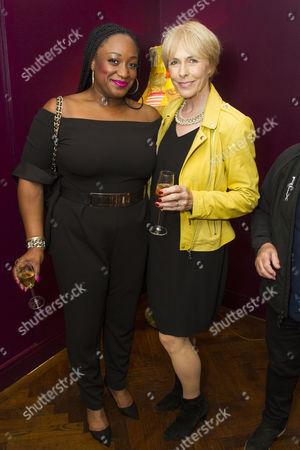 Sandra Marvin (Camila Batmanghelidjh) and Liz Robertson (Cheryl Gillan MP)