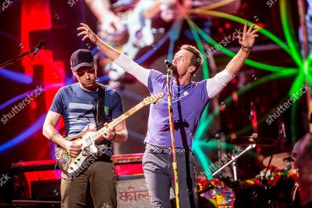 Coldplay - Chris Martin and Jonny Buckland