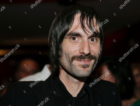 Italian writer and songwriter of music group Baustelle Francesco Bianconi, poses as he attends 'La Milanesiana' cultural event, at the Piccolo Teatro Grassi, in Milan, Italy