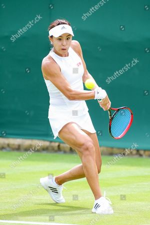Qiang Wang (CHN) - Tennis : Qiang Wang of China during the Women's singles first round match of the Wimbledon Lawn Tennis Championships against Kai-Chen Chang of Taiwan at the All England Lawn Tennis and Croquet Club in London, England.