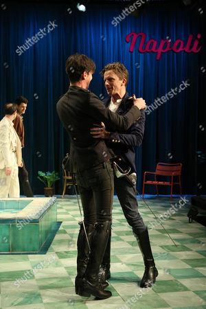 Leon Ford (Belvile) and Toby Schmitz (Willmore) perform a scene