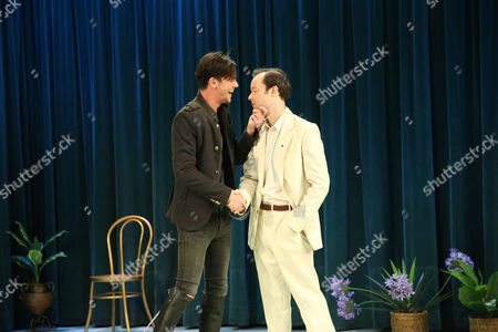 Toby Schmitz (Willmore) and Gareth Davies (Ned Blunt) perform a scene