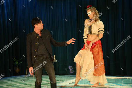 Stock Photo of Taylor Ferguson (Hellena) and Toby Schmitz (Willmore) perform a scene