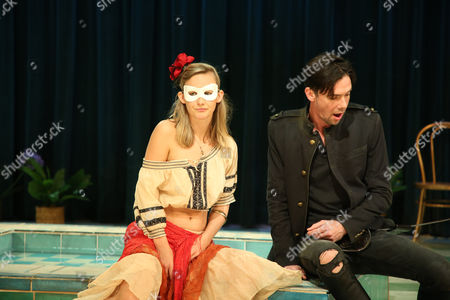 Stock Image of Taylor Ferguson (Hellena) and Toby Schmitz (Willmore) perform a scene