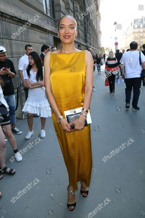 Editorial image of Carmen Chaplin out and about, Haute Couture Fashion Week, Paris, France - 03 Jul 2017