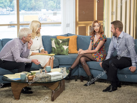 Phillip Schofield and Holly Willoughby with Robert Willis and Kara Lily Hayworth