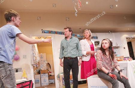'Tusk Tusk' - Toby Regbo (Eliot), Tom Beard (Roland), Caroline Harker (Katie), Bel Powley (Maggie)
