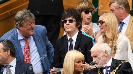 (l-r) Stephen Fry, Elliott Spencer and Carolin Dawson in the Royal Box