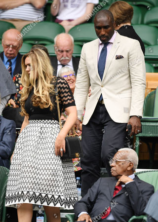 Sol Campbell and Fiona Barratt-Campbell arrive in the Royal Box