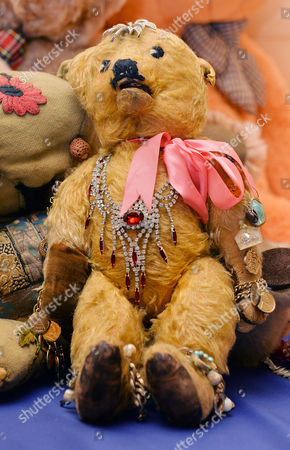 Barbara Cartland's Teddy Bear 'prince Of Love'. Collection Of Teddy Bears From Broadcaster And Former MP Giles Brandreth Gifted To Newby Hall Ripon North Yorkshire In A New Permanent Exhibition.   24/5/16.
