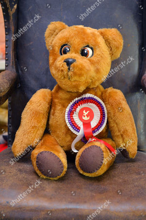Roger De Courcey's Nookie Bear. Collection Of Teddy Bears From Broadcaster And Former MP Giles Brandreth Gifted To Newby Hall Ripon North Yorkshire In A New Permanent Exhibition.   24/5/16.