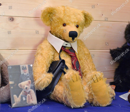 Tony Blair's Bear 'lynton'. Collection Of Teddy Bears From Broadcaster And Former MP Giles Brandreth Gifted To Newby Hall Ripon North Yorkshire In A New Permanent Exhibition.   24/5/16.