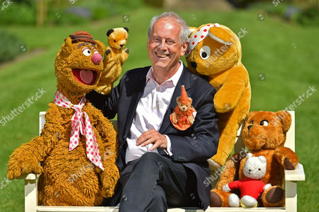 Collection Of Teddy Bears From Broadcaster And Former MP Giles Brandreth (pictured With Fozzie Bear Sooty Pudsey Nookie Rupert And Paddington Bear) Gifted To Newby Hall Ripon North Yorkshire In A New Permanent Exhibition.   24/5/16.