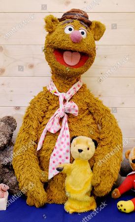 Fozzie Bear From 1960's Muppet Show With Sooty. Collection Of Teddy Bears From Broadcaster And Former MP Giles Brandreth Gifted To Newby Hall Ripon North Yorkshire In A New Permanent Exhibition.   24/5/16.