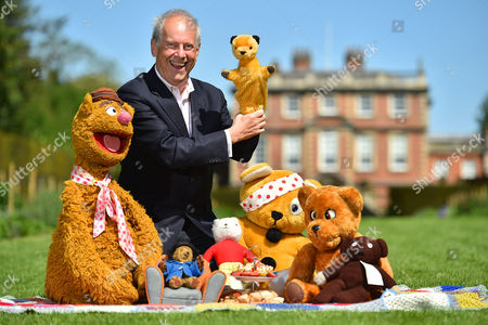Editorial picture of Collection Of Teddy Bears From Broadcaster And Former Mp Giles Brandreth (pictured With Fozzie Bear Sooty Pudsey Nookie Rupert And Paddington Bear) Gifted To Newby Hall Ripon North Yorkshire In A New Permanent Exhibition. Pic Bruce Adams / Copy Brook