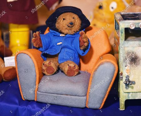 Paddington Bear From The 1970's TV Series. Collection Of Teddy Bears From Broadcaster And Former MP Giles Brandreth Gifted To Newby Hall Ripon North Yorkshire In A New Permanent Exhibition.   24/5/16.