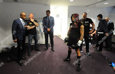 Matchroom Boxing Eddie Hearn Feature Eddie In The Dressing Room With Connor Benn.