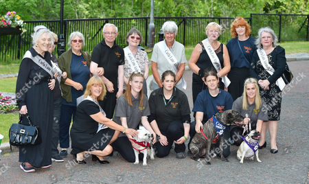 Editorial picture of Members Of Carla Lane Animal Charity 'animals In Need' -carla Lane Funeral At Liverpool Anglican Cathedral Liverpool Merseyside.