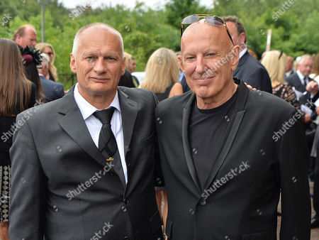 Editorial photo of Carla Lane's Sons Nigel (l) And Carl Hollands (r)- Carla Lane Funeral At Liverpool Anglican Cathedral Liverpool Merseyside.