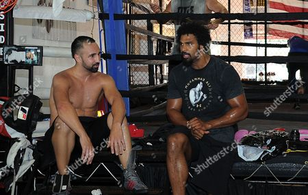 David Haye Is Invited By Joe Fournier Down To Miami 5th Street Gym Where Muhammad Ali Trained David Wore Ali T Shirt And Shorts In Respect Of The Late Fighter. David And Paulie Malignaggi Chat 13/06/16: