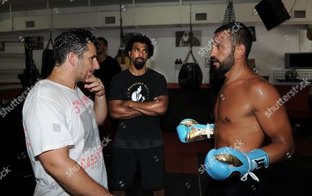 David Haye Is Invited By Joe Fournier Down To Miami 5th Street Gym Where Muhammad Ali Trained David Wore Ali T Shirt And Shorts In Respect Of The Late Fighter.